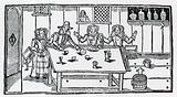 Dicing. Women in a tavern encouraging a young man to lose his money.