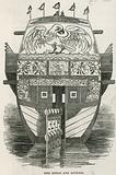 Stern and rudder of the Chinese Junk brought to London as a tourist attraction
