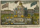 Temple of Concord to celebrate the Peace of 1814