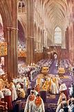 Coronation ceremony at Westminster Abbey
