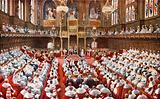 The House of Lords. The opening of the Houses of Parliament by His Majesty the King.