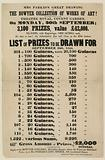 Lottery advertisement. The Bowyer Collection of Works of Art.