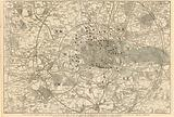 Map showing the toll gates and principal bars within 6 miles of Charing Cross, exhibited to Lord …