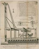 Engine for driving the piles, Westminster Bridge