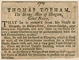 Thomas Topham, the strong man of Islington