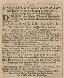 Advertisement for Bartholomew Fair