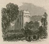 The Riot in Hyde Park: Scene of destruction near the Marble Arch