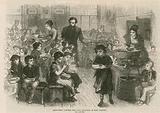 Halfpenny dinners for poor children in East London