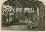 Interior of the A, B, Signal box of the South-Eastern Railway at the London Bridge station