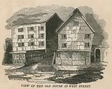 View of the old house in West Street, London, formerly the Red Lion Inn, Chick Lane …