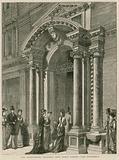 Entrance of The Grosvenor Gallery, New Bond Street, London