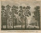 A perspective view of Vauxhall Garden, London