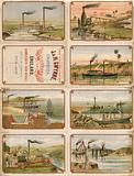 Cigarette cards issued by John and Henry Gwynne, 89 Cannon Street, London