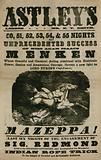 Advert for Astley's Amphitheatre, London, featuring Mazeppa, starring Adah Isaacs Menken