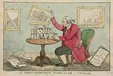 A great architect modelling - cartoon of Sir William Chambers, architect of Somerset House
