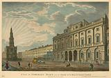 A view of Somerset House and St Mary-le-Strand, The Strand, London