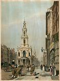 The Strand, including St Mary-Le-Strand, London