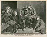 Sketch at the Office of the National Society for the Prevention of Cruelty to Children