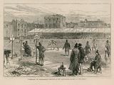 Cumberland and Westmoreland wresting at the Lillie Bridge Ground on Good Friday