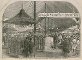 Prince Albert laying the foundation stone of the strangers' home