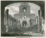 The burning of St Anne's Church in Limehouse