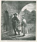 John Bunyan and his blind daughter at the door of Bedford Jail