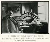 Removing the Great Wheel at Earl's Court, London; a model of Earl's Court Big Whee