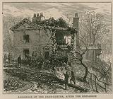The explosion on the Regent's Canal; Residence of the park keeper after the explosion