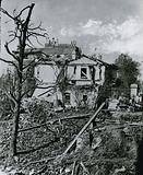 The explosion on the Regent's Canal; Residence of the park keeper after the explosion; photograph