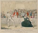 The Assault, or Fencing Match between Mademoiselle La Chevaliere D'Eon de Beaumont and Monsirur De Saint George