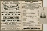 Advert for The Walhalla, Leicester Square, under the direction of Madame Warton