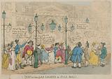 A Peep at the Gas Lights in Pall Mall, London