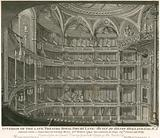 Interior of the late Theatre Royal, Drury Lane, London