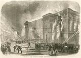 The burning of Covent Garden Theatre, London, on the morning of 5 March 1856