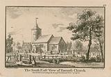 The south east view of St Pancras Church, London