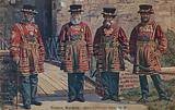 Postcard with an image of four Yeoman Warders