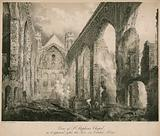 View of St Stephen's Chapel as it appeared after the fire in October 1834