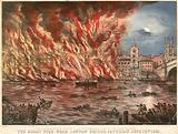 The great fire near London Bridge, Saturday 22 June 1861