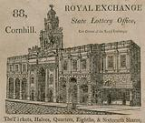 State Lottery Office, east corner of the Royal Exchange, 88 Cornhill, London