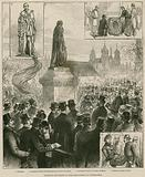 Unveiling the statue of Lord Beaconsfield at Westminster