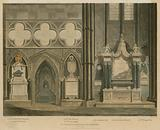 Tenth window and entrance to the Cloister, North Aisle, Westminster Abbey, London