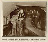 Ordering passengers about by gramophone
