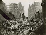 The City of London after a bombing raid