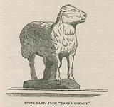 Stone lamb from Lamb's Conduit