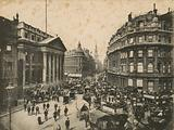 Mansion House, Queen Victoria Street, and Cheapside, London; photograph