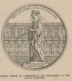 Medal struck to commemorate the rebuilding of the Royal Exchange