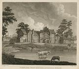 View of the pest houses at Tothill Fields, London