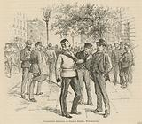 Touting for recruits at George Street, Westminster, London