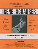 Advert for a Chopin-Schumann recital featuring Irene Scharrer
