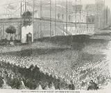 The Reverend Charles Haddon Spurgeon preaching his 'Humiliation Day' sermon in the Crystal Palace